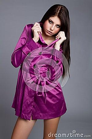 Purple Coat Woman