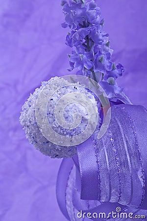purple cocunut cakepop