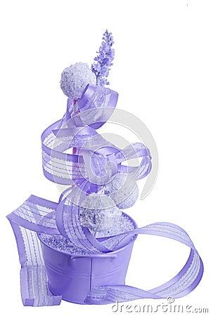Purple cocunut cakepops