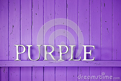 Purple Color Word Background