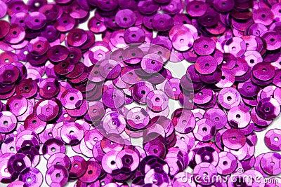 Purple confettis