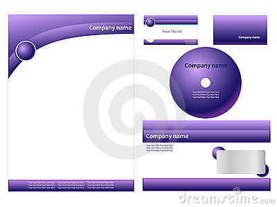 Purple corporate identity