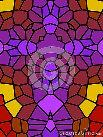 Purple Cross Mosaic