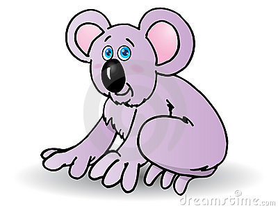 cute baby koala cartoon
