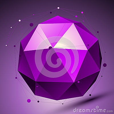 Purple 3D modern stylish abstract background, origami futuristic