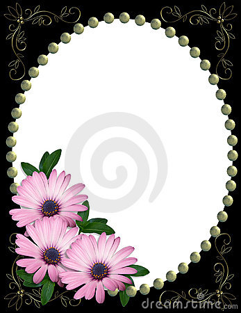 Free Purple Daisy Border Frame Stock Photos - 4694103