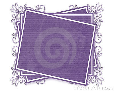 Purple Decorated Tag