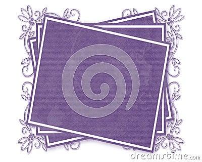 Purple Decorated Tag