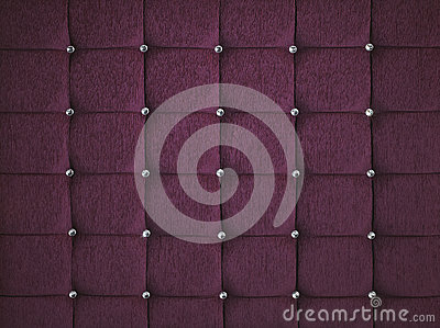 PURPLE DIAMOND STUDDED PADDED FABRIC BACKGROUND