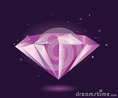 Purple diamond – VECTOR