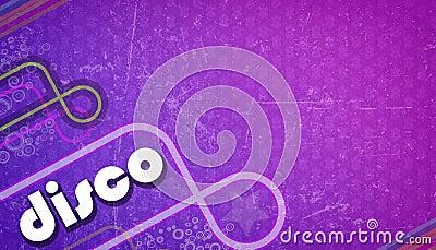 Purple disco background