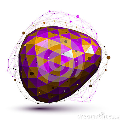 Free Purple Distorted 3D Abstract Object With Lines And Dots Stock Images - 45380884
