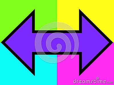 Purple double arrow