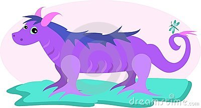Purple Dragon with Pink Horns