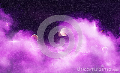 Purple Dream Wave Nebula