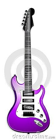 Purple Electric Guitar Illustration