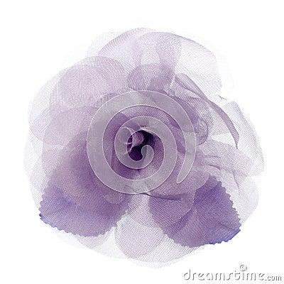 Purple fabric flower