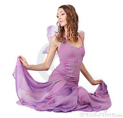Free Purple Fairy. Stock Photos - 15955513