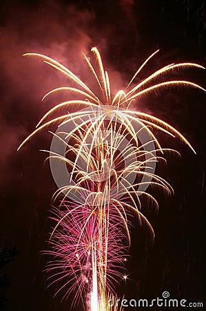 Free Purple Fireworks Stock Photography - 241202