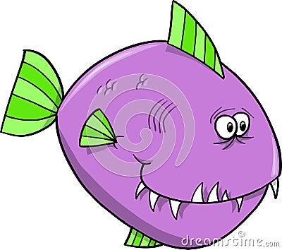 Purple Fish Vector Stock Photos - Image: 12746213