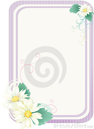 Purple floral frame