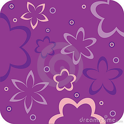 Purple floral retro wallpaper