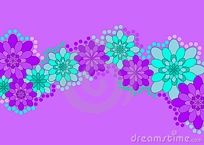 Purple flower banner