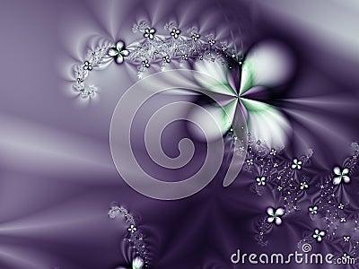 Purple Flower and diamonds Romantic Background