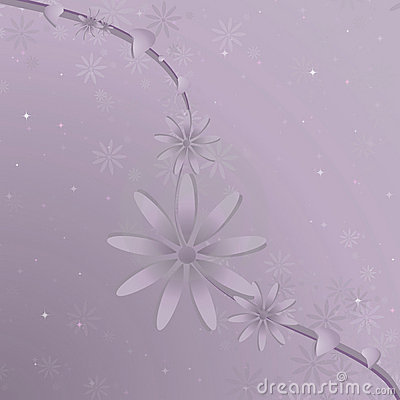 Purple Flower Vine Background