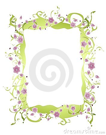 Free Purple Flower Vine Border Royalty Free Stock Photography - 6989657