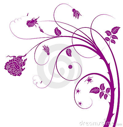 Purple flower and vines