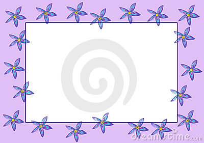Purple Flowers Border