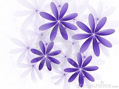 Purple Flowers Fractal