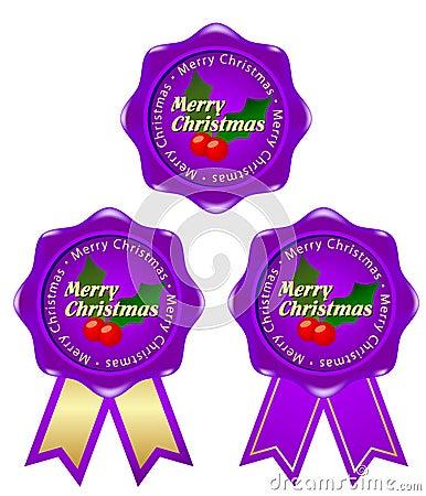 Purple frame christmas