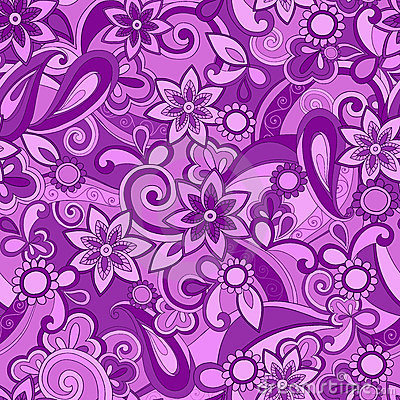 Purple Funky Pucci Seamless Repeat Pattern