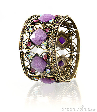 Purple gemstone bangle