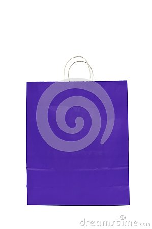 Purple Gift Bag With Cord Handle