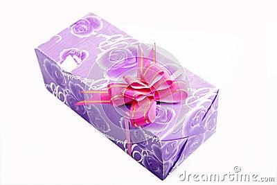 Purple gift box