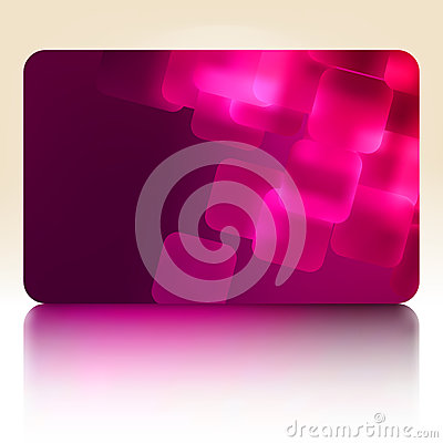 Purple gift card. EPS 8