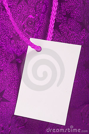 Purple gift tag