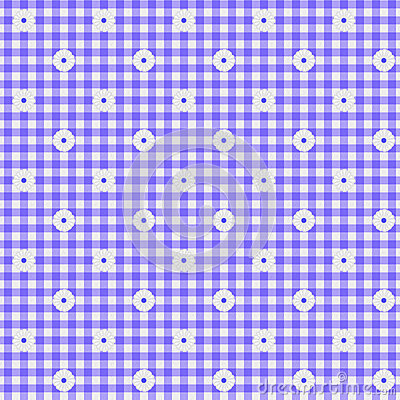Purple Gingham Fabric Background