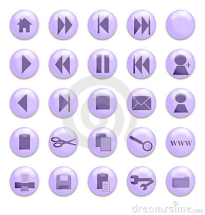 Purple Glass Buttons