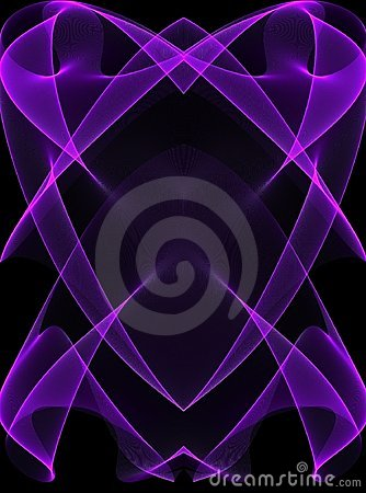 Purple Glowing Lines on Black