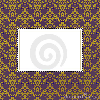 Purple and gold frame