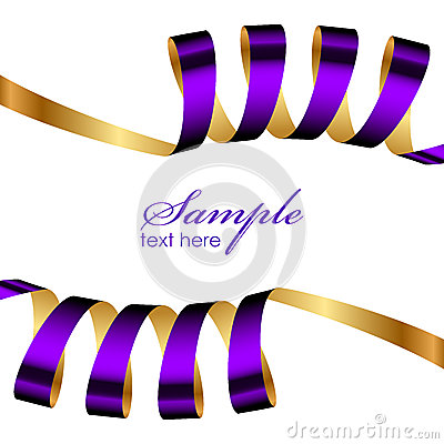 Purple and gold ribbon frame