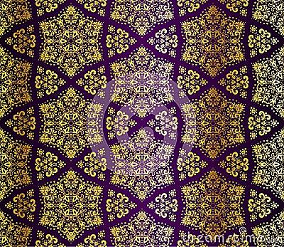 Easy Arabesque Art Gold seamless arabesque Easy Arabesque Art