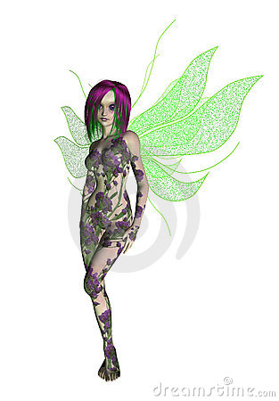 Purple Green Flower Fairy