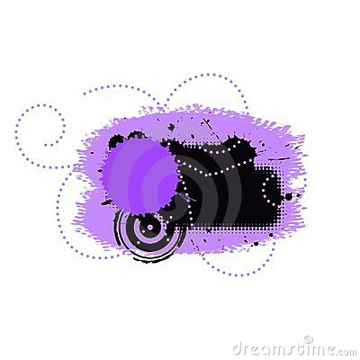 Purple grunge dots splatter background