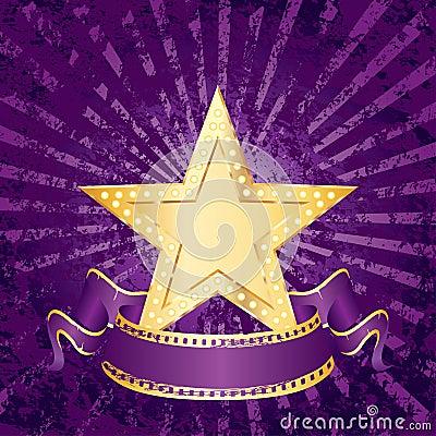 Purple grunge rays