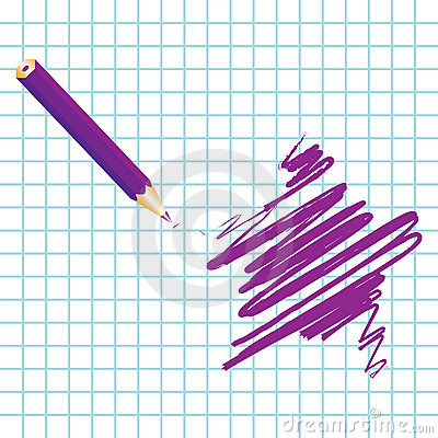 Purple handwritten star